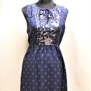 OLD NAVY NAVY BLUE DRESS FLORAL XS TP
